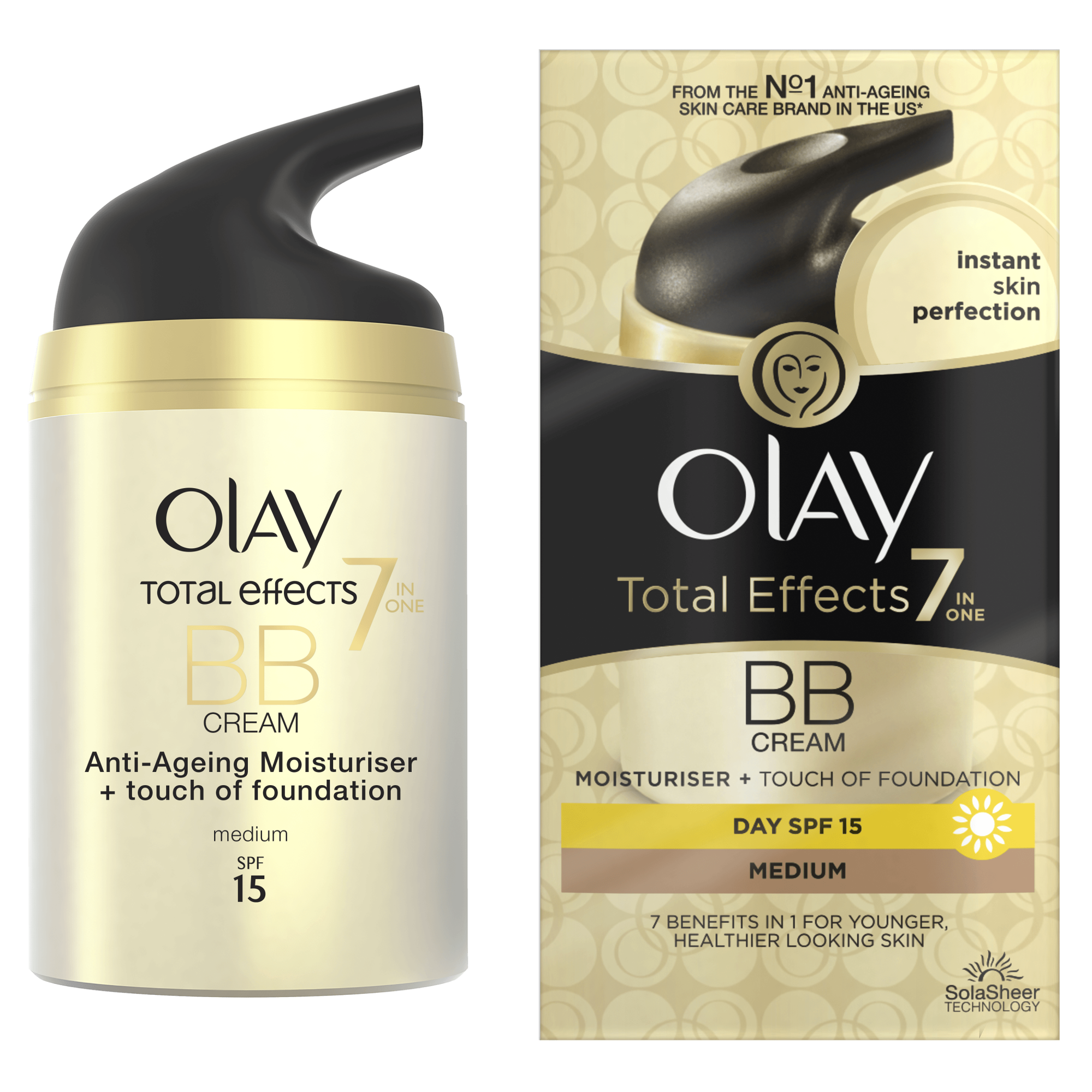 olay total effects 7in1 make up touch of foundation bb medium 50ml pame. Black Bedroom Furniture Sets. Home Design Ideas