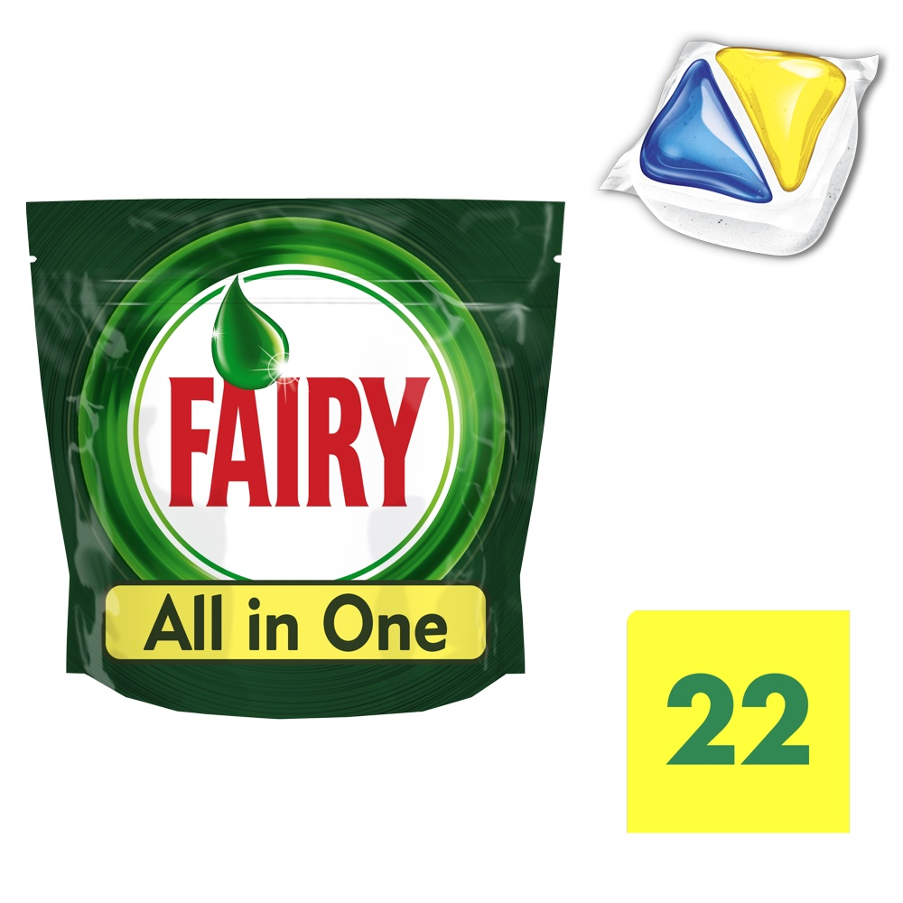 eb00166f3b48 Fairy All in One Λεμόνι Ταμπλέτες Πλυντηρίου Πιάτων 22 ανά ...