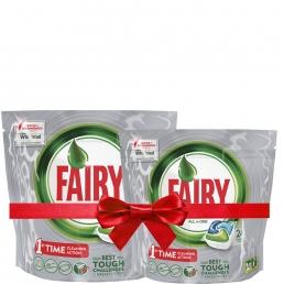 Fairy Platinum Original Ταμπλέτες Πλυντηρίου Πιάτων 24 ανά συσκευασία 1+1 Δώρο