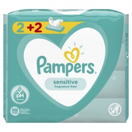 PAMPERS WIPES SENSITIVE 3Χ4X52 (2+2)