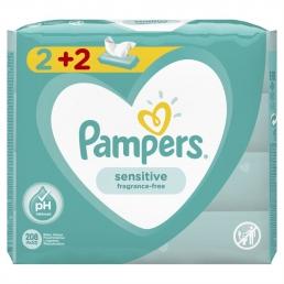 PAMPERS WIPES SENSITIVE 3Χ4X52 (2+2)