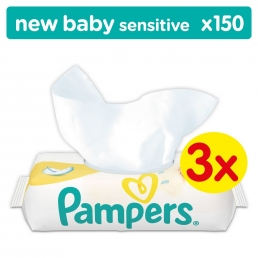 Μωρομάντηλα Pampers Baby Wipes Newbaby Sensitive (3 συσκ. X 50 τεμ)