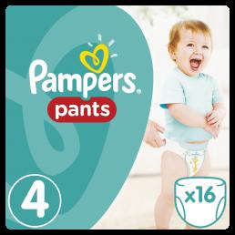 Pampers Pants Μέγεθος 4 (8-14kg), 16 Πάνες-βρακάκι