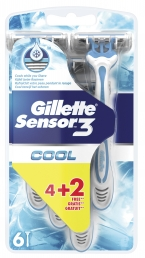 GILLETTE SENSOR 3 COOL 6X(4+2 ΔΩΡΟ)