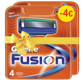 Gillette Fusion Manual Aνταλλακτικά 4τεμ (1+1 -4€)