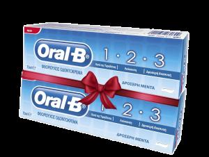 ORAL-B ΟΔΟΝΤΟΚΡΕΜΑ 1-2-3 75ML (1+1 Δώρο)