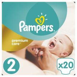 Pampers Premium Care Πάνες Μέγεθος 2 ( 3-6kg), 20 Πάνες