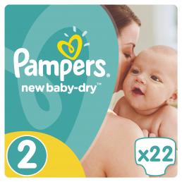 Pampers New Baby Dry Μέγεθος 2 (3-6kg), 22 Πάνες