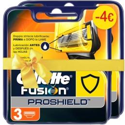 Gillette Fusion Proshield 3 Ανταλλακτικές Κεφαλές Ξυρίσματος(1+1 -4€)