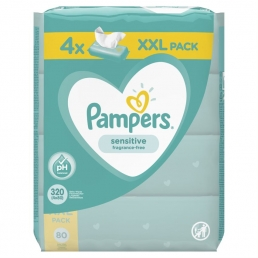 PAMPERS WIPES SENSITIVE 3Χ4X80