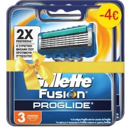 Gillette Fusion Proglide Μanual Aνταλλακτικά 3 (1+1 -4€)