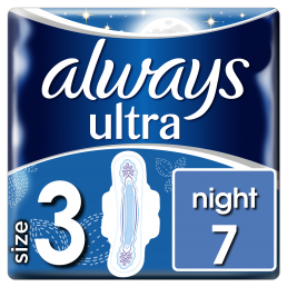 Always Σερβιέτες ONM Ultra Night 100% protection (7 τεμ)