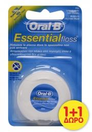 ORAL-B ESSENTIAL FLOSS ΟΔΟΝΤΙΚΟ ΝΗΜΑ ΑΚΗΡΩΤΟ 50ml (1+1 Δώρο)