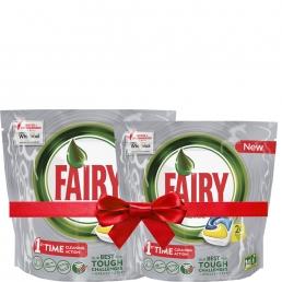 Fairy Platinum Lemon Ταμπλέτες Πλυντηρίου Πιάτων 24 ανά συσκευασία 1+1 Δώρο