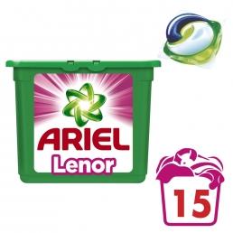 Κάψουλες Ariel Pods 3σε1 Touch of Lenor Fresh - 15 Κάψουλες