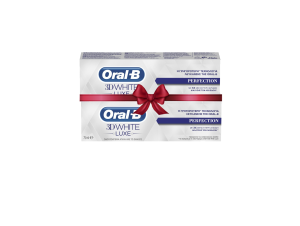 ORAL B 3D WHITE LUXE PERFECTION 75 ML (1+1 Δώρο)