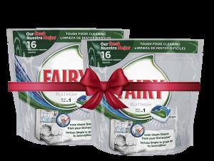 Fairy Κάψουλες πλυντηρίου πιάτων Platinum Κανονικό 16τεμ. (1+1 Δώρο)