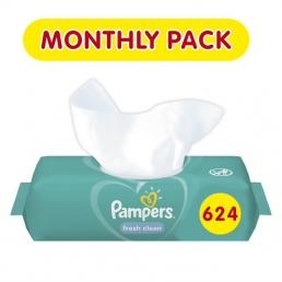 PAMPERS WIPES FRESH CLEAN  12X52 E-BOX