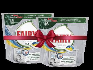 Fairy Κάψουλες πλυντηρίου πιάτων Platinum Λεμόνι 16τεμ (1+1 Δώρο)