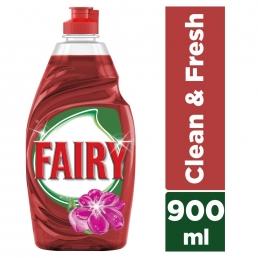 Fairy Clean & Fresh με άρωμα Λουλουδιών υγρό πιάτων 900ml
