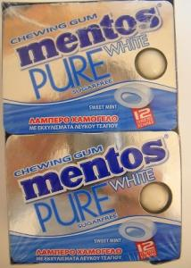 MENTOS PURE WHITE SWEET MINT BLISTER