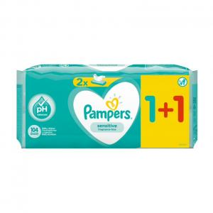 PAMPERS WIPES SENSITIVE 6x2x52 (1+1)
