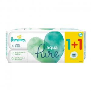 PAMPERS WIPES PURE 6x2x48 (1+1)