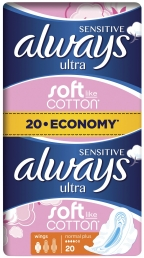 Always Σερβιέτες Sensitive Ultra Normal Plus (20 τεμ)