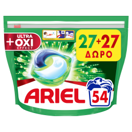 Ariel Allin1 PODs +OXI Effect Κάψουλες Πλυντηρίου - 54 Κάψουλες (27+27 δώρο)