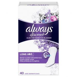 ALWAYS DISCREET LINERS LONG 4X40