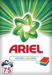Ariel AquaPoudre ΛΕΥΚΑ & ΧΡΩΜΑΤΙΣΤΑ  Aπορρυπαντικό Σε Σκόνη 75 Πλύσεις