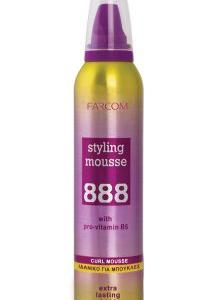 888 SΤΥLΙΝG ΜΟUSSΕ CURLY HAIR 250ml