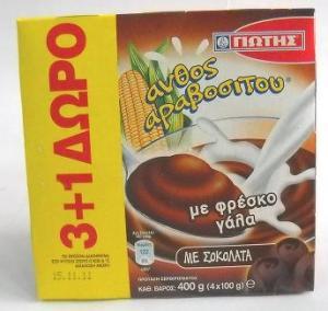 Γιώτης Άνθος Αραβοσίτου Σοκολάτα 3+1 Δώρο