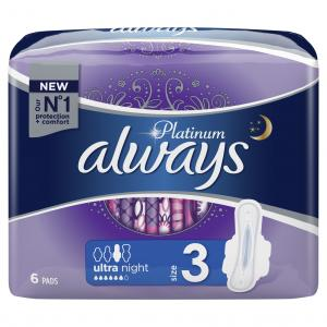 ALWAYS ULTRA PLATINUM NIGHT SP 20X6