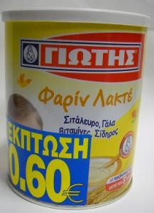 ΦΑΡΙΝ  ΛΑΚΤΕ ΓΙΩΤΗ 300ΓΡ -0,60€ 12ΤΜΧ