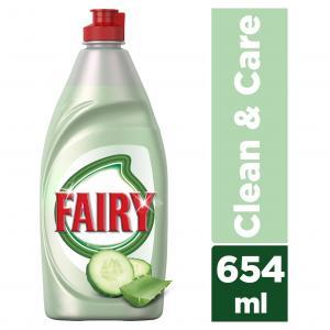 FAIRY CLEAN&CARE ΑΛΟΗ&ΑΓΓΟΥΡΙ 16X654ML