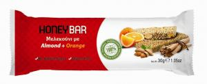 Honey Bar Μελεκούνι με Almonds & Orange 30gr