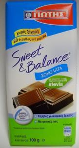 SWEET & BALANCE ΣΟΚΟΛΑΤΑ ΜΕ STEVIA