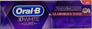 ORAL-B 3D WHITE LUXE GLAMOUR SHINE 75 ML