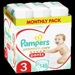 Πάνες Pampers Premium Care Pants Monthly Pack Νο3 (6-10kg) 140τεμ