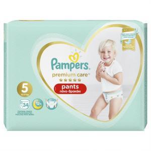 Pampers Premium Care Pants Μέγεθος 5 (12-17 kg), 34 Πάνες