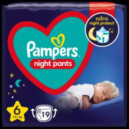 Pampers Night Pants Μέγεθος 6, (15kg+) - 19 Πάνες-Βρακάκι