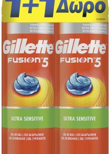 GILLETTE FUSION SENS GEL 3X(200+200MLΔΩΡΟ)