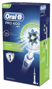 Oral-B Pro 600 - Επαναφορτιζόμενη Ηλεκτρική Οδοντόβουρτσα