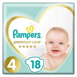 Pampers Premium Care Πάνες Μέγεθος 4 ( 9-14kg), 18 Πάνες