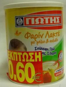 ΦΑΡΙΝ ΛΑΚΤΕ ΜΗΛΟ ΑΧΛΑΔΙ 300GR -0,60€ 12ΤΜΧ ΓΙΩΤΗ