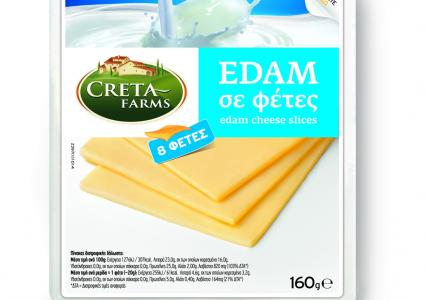 CRETA FARMS ΤΥΡΙ EDAM ΦΕΤΕΣ 160gr