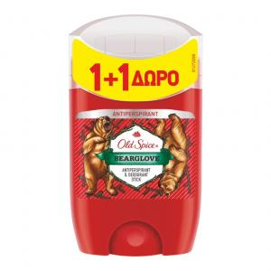 OLD SPICE STICK BEARGLOVE 50ML(1+1 ΔΩΡΟ)